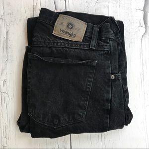 Wrangler Black Jeans 34x32 slim straight